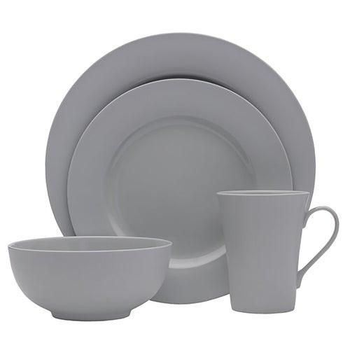 Delray Gray 16pc Bone China Dinnerware Set