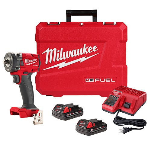 M18 FUEL 3/8 Compact Impact Wrench w/ Friction Ring CP2.0 Kit