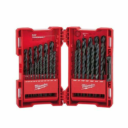 29pc Thunderbolt Black Oxide Drill Bit Set