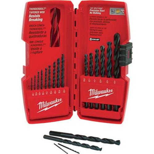 15 pc. Thunderbolt Black Oxide Drill Bit Set