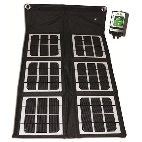 18 Watt Folding Solar Panel w/8 Amp Controller