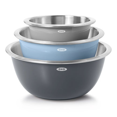 Good Grips 3pc Stainless Steel Mixing Bowl Set