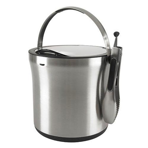 SteeL Ice Bucket & Tongs Set