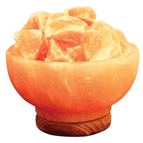 Natural Fire Bowl Lamp