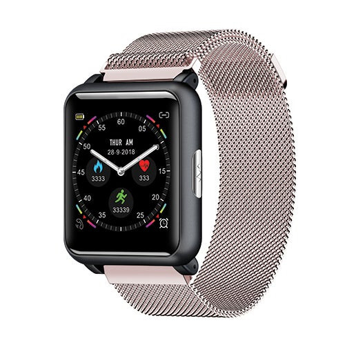 ECG + PPG Smart Sports Watch Milanese Rose