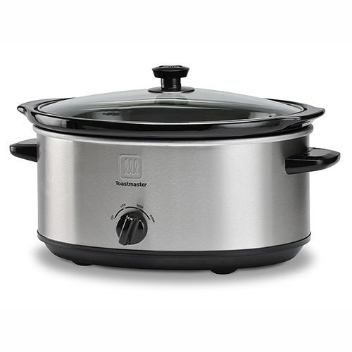7 Qt Oval Stainless Steel Slow Cooker