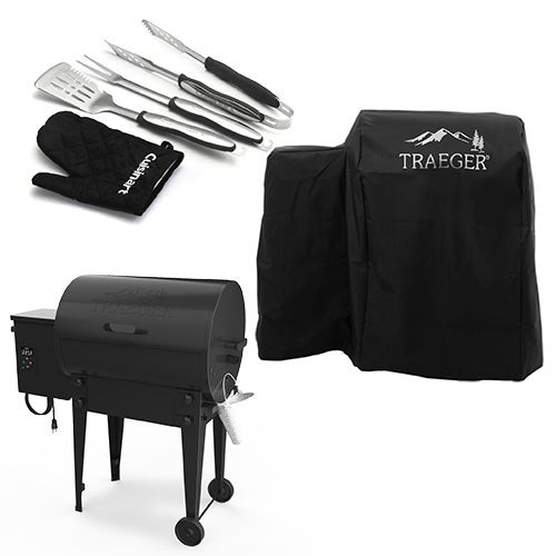 Tailgater Pellet Grill w/ Cover & 4pc Grill Tool Kit
