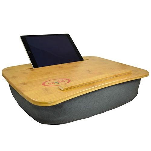 Traybo 2.0 Bamboo Laptop Tray w/Tablet Holder Dark Gray