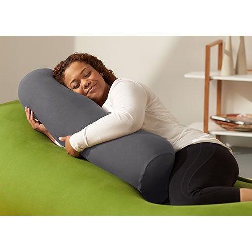 Buddy Roll Portable Body Pillow w/ Dark Gray Cover