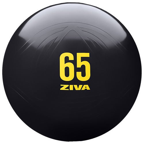 65cm Anti-Burst Core Fit Ball w/ Hand Pump Black/Yellow