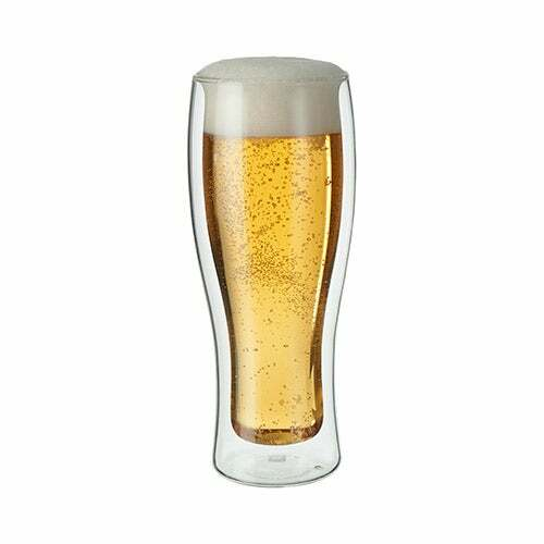 Sorrento 2pc Double Wall Beer Glass Set