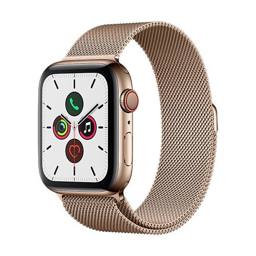 S5 Watch GPS + Cell 44mm Gold SS Case w/ Gold Milanese Loop