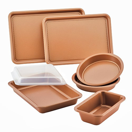 7pc Nonstick Bakeware Set Copper