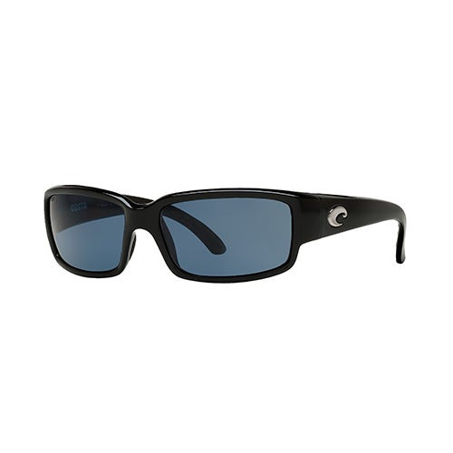 Caballito Shiny Black Sunglasses w/ Polarized 580P Gray Lens