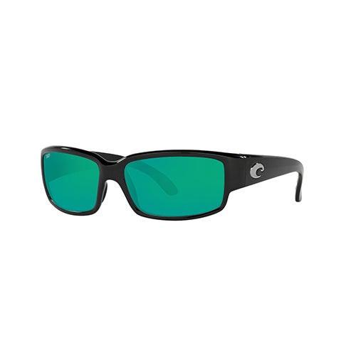 Caballito Shiny Black Sunglasses w/ Polarized 580P Green Lens