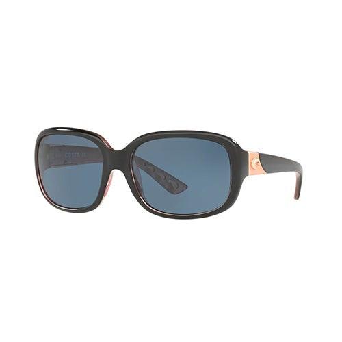 Gannet Shiny Black/Hibiscus Sunglasses w/ Polarized 580P Gray Lens