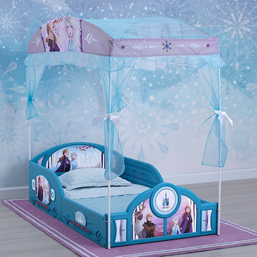 Frozen II Sleep and Play Toddler Canopy Bed Ages 15+ Months