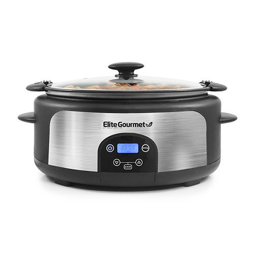 Platinum 6qt Programmable Stainless Slow Cooker w/ Locking Lid