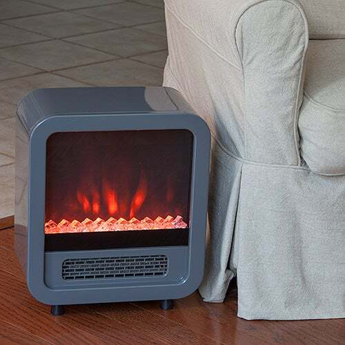 Silver Skyline Electric Fireplace
