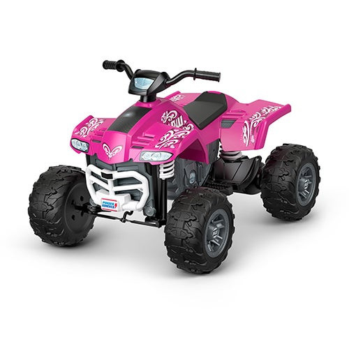 Power Wheels Racing Ride-on ATV Pink - Ages 3-7 Years
