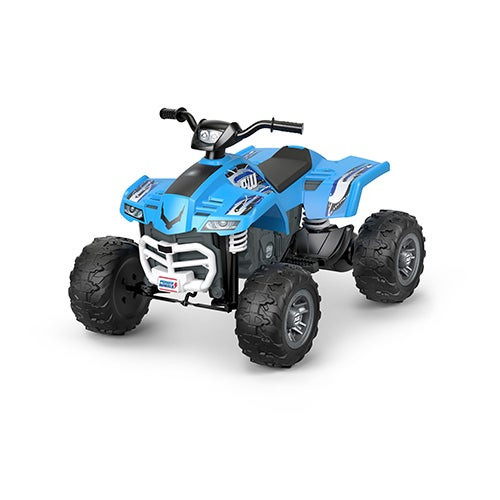 Power Wheels Racing Ride-on ATV Blue - Ages 3-7 Years