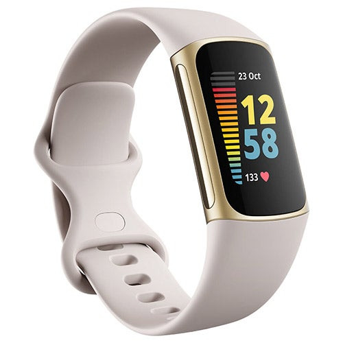Charge 5 Advanced Fitness + Health Tracker Lunar White/Soft Gold SS