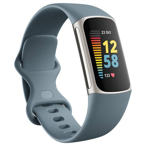 Charge 5 Advanced Fitness + Health Tracker Steel Blue/Platinum SS