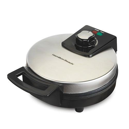 Round Belgian Waffle Maker w/ Adjustable Temperature