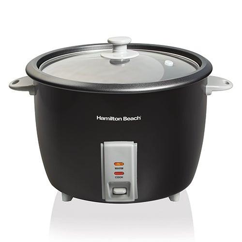 30 Cup Rice Cooker & Food Steamer Black