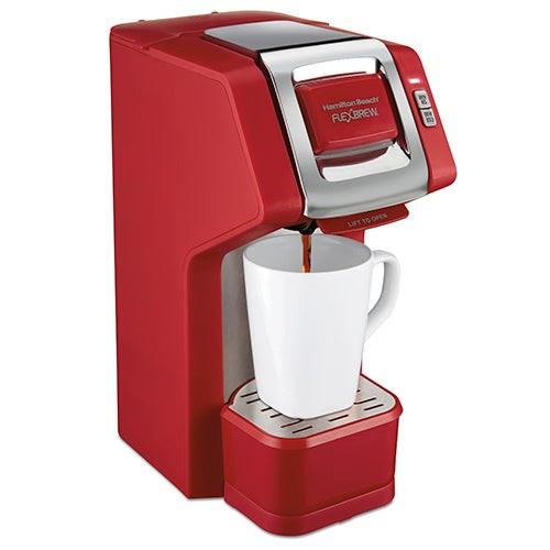 FlexBrew Single Serve Coffeemaker Red