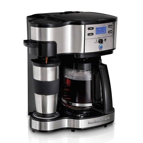 2-Way Coffeemaker w/ 12 Cup Carafe & Single Pod Brewing
