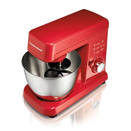 6 Speed Stand Mixer Red