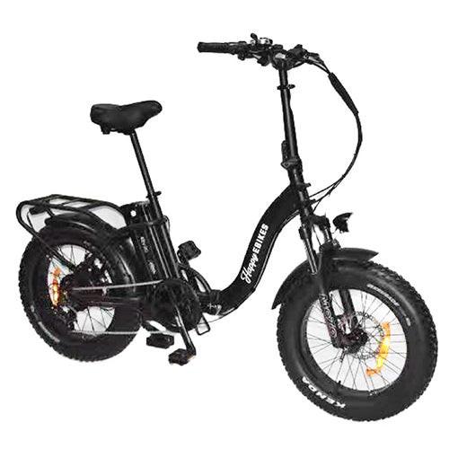 Happy Everywhere Folding Step-Thru Electric Bike Black