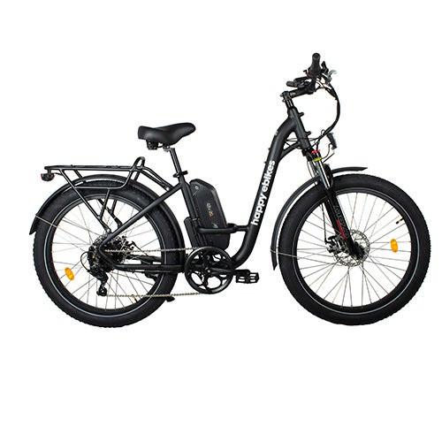 Happy Camper II Step-Thru Electric Bike Black