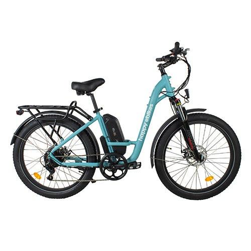 Happy Camper II Step-Thru Electric Bike Blue