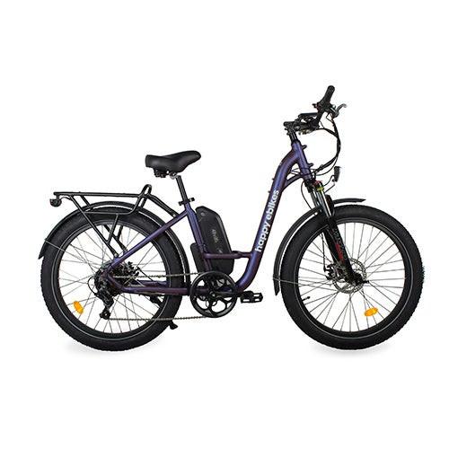 Happy Camper II Step-Thru Electric Bike Purple