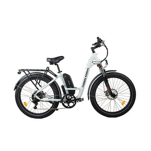 Happy Camper II Step-Thru Electric Bike White