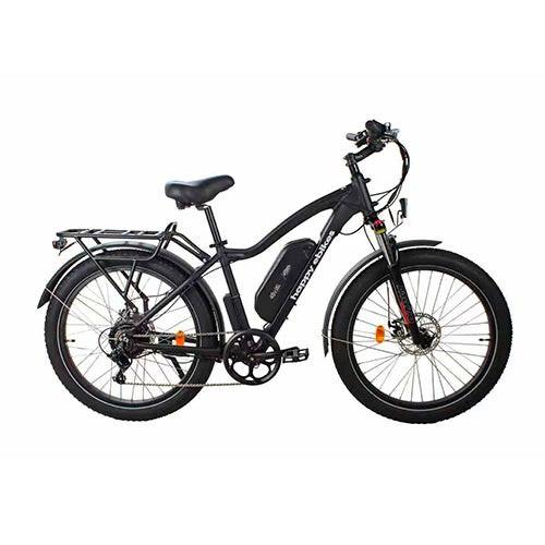 Happy Fatty Mountain Fat Tire Electric Bike Black