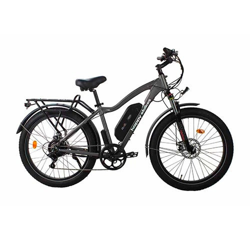 Happy Fatty Mountain Fat Tire Electric Bike Gray