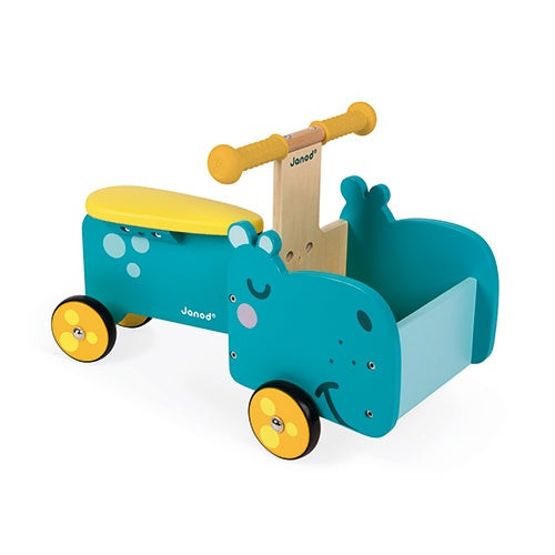 Hippopotamus Wooden Ride-On Ages 12+ Months