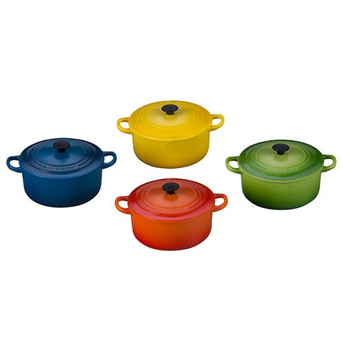 Set of 4 Round Dutch Oven Magnets Multi-Color