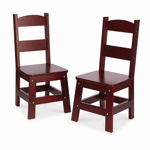 Wooden Chair Pair Espresso - Ages 3-8 Years