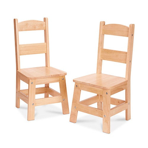 Wooden Chair Pair Natural - Ages 3-8 Years