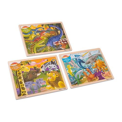 Jigsaw Puzzle Bundle - Dinosaur/Safari/Ocean Ages 3+ Years