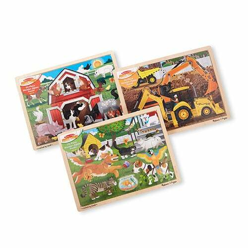 Jigsaw Puzzle Bundle - Farm/Construction/Pets Ages 3+ Years