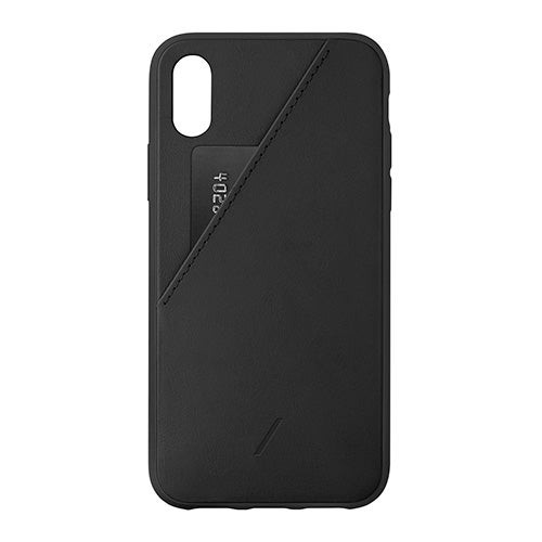 Clic Card Protective Leather Case w/ Card Holder Black - iPhone XR