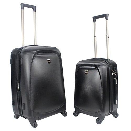 Bob Mackie PC 2pc Hardside Luggage Set