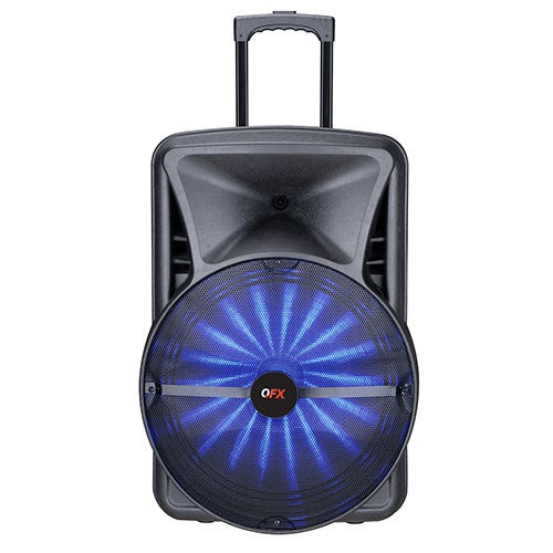 """18"""" Rechargeable Party Speaker w/ Mic & Stand"""