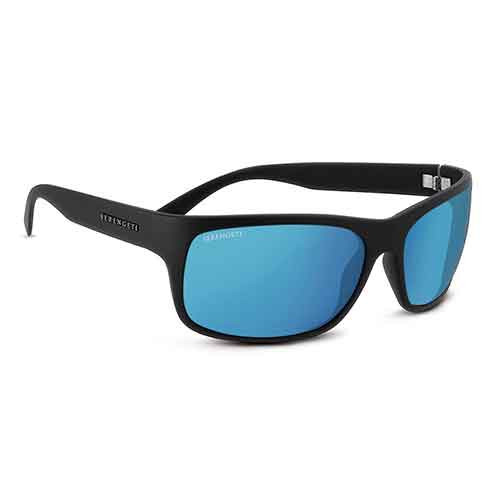 Pistoia Matte Black Sunglasses w/ Polarized 555nm Blue