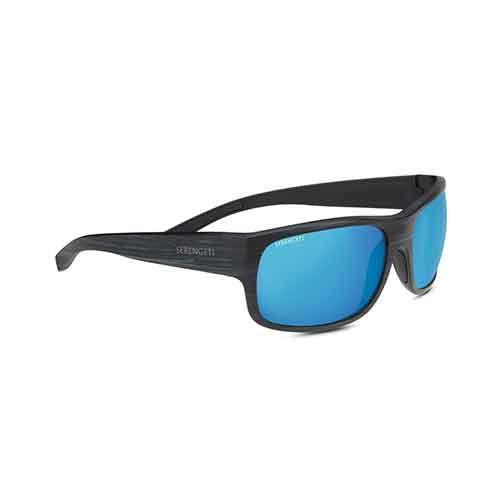 Bergamo Matte Stripped Gray Sunglasses w/ 555nm Blue Polar